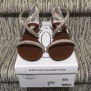 Steve Madden Silver Rhinestone Sandal